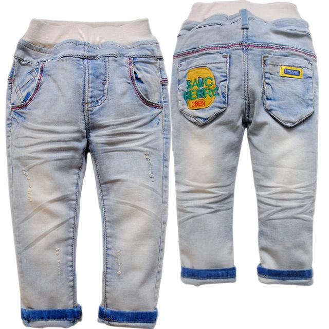6135 primavera suave DEL BEBÉ denim JEANS boy & girls pantalones niños pantalones de primavera y otoño de la manera ocasional