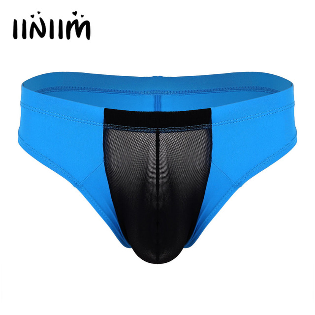 cd180b69d8eb0 New Sexy Gay Mens Lingerie Low Rise See Through Mesh Bulge Pouch Breathable  Ultra-thin Briefs Underwear Wetlook Panties for Men