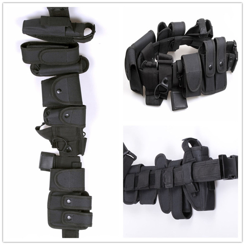 Wielofunkcyjne pasy bezpieczeństwa Outdoor Tactical Military Training Polices Guard Utility Kit Duty Belt Belt with Pouch Set
