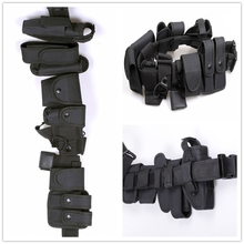 Multifunctional Security Belts Outdoor Tactical Military Training Polices Guard Utility Kit Duty Belt with Pouch Set