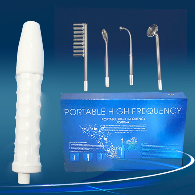 Portable High Frequency Electrotherapy Facial Machine Spot Acne Remover Face Skin Wrinkle Scalp Massager Electrode Beauty