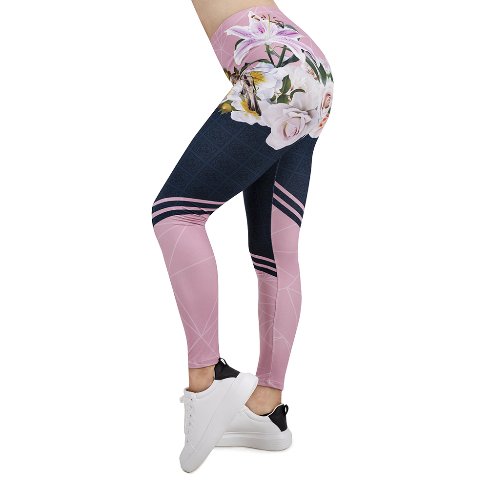 2019 Women Legging Spring In Bloom 3D Printing Leggins Slim High Elasticity Legins Popular Fitness Leggings Female Pants