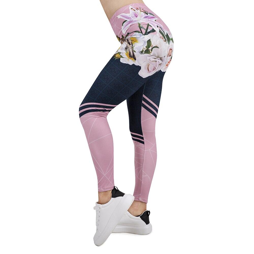 2019 Women   Legging   Spring In Bloom 3D Printing Leggins Slim High Elasticity Legins Popular Fitness   Leggings   Female Pants