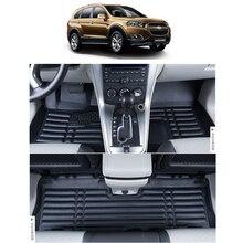 цена на free shipping waterproof fiber leather car floor mat for chevrolet captiva Daewoo Winstorm 2006-2017 5 seats 7 seats