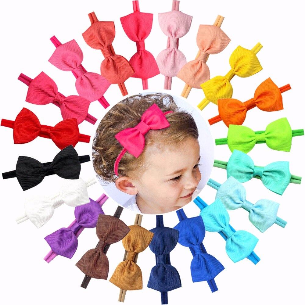 20 Pcs Soft Nylon Baby Headbands 2.75