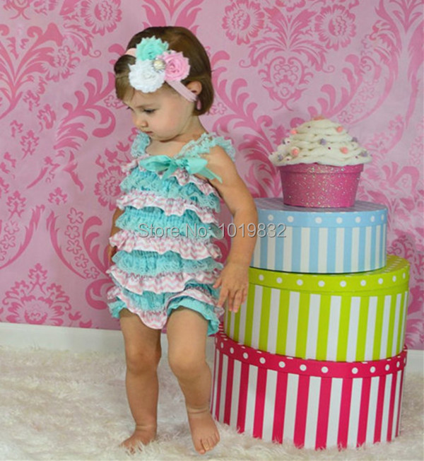 1dbb235f9436 Baby Easter Day Romper Newborn Baby 1st Easter Romper Easter Outfit Baby  Aqua Pink Chevron Petti Romper Baby Clothes-in Rompers from Mother   Kids  on ...