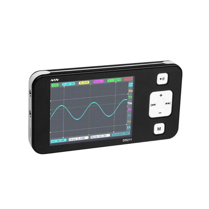 DS211 Mini Pocket Digital Professional Portable Oscilloscope 1MSa/s 200kHz TFT LCD Display Screen Spectrum Analyzer Ease Measure|Oscilloscopes| |  - title=