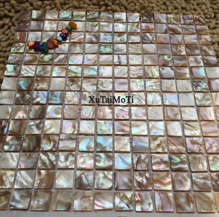 Shell Mosaic Mother Of Pearl Natural Colorful Kitchen Backsplash Wallpaper Tile Bathroom Background Shower Decorative Wall Tiles