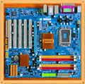 Frete grátis genuine desmontar gigabyte p43-es3g p43 motherboard ddr2 775 771 perfeito dupla usina nuclear nuclear