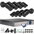DEFEWAY 720 P HD 1200TVL sistema de cámara de seguridad al aire libre sistema HDMI CCTV videovigilancia 8CH 1 TB HDD AHD en línea la cámara