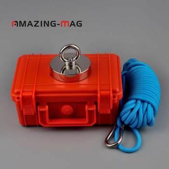 300 кг сильный неодимовый магнит спасательные рыболовные магниты предложение Веревка безопасности коробка вариант Охотник за сокровищами м...