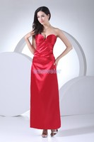 Free Shipping New Style 2013 Strapless Bandage Dress Vestidos Dress Plus Size Pageant Dress Red Long