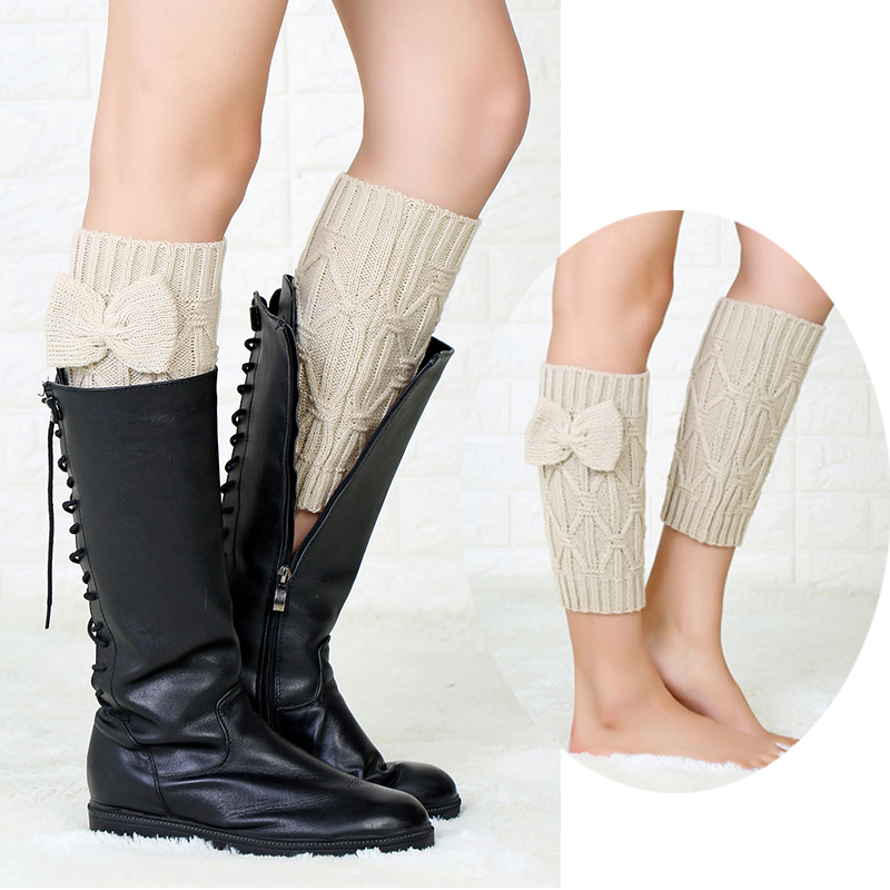 Over Knee Stock High Socks Women Warm Thigh Knit Bow Stockings Wool Women's Long Socks Girls Ladies Lace Top Knee Sock WK012
