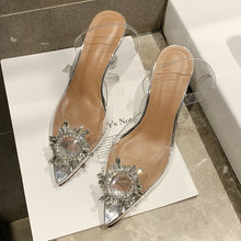 c303ad736bbaed 34-40 2019 lato kobiety eleganckie czółenka wysokie obcasy Bling buty z  kryształkami kobieta Sexy