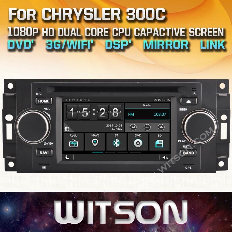 WITSON factory price font b car b font dvd for CHRYSLER 300C TP Cruiser DODGE Ram