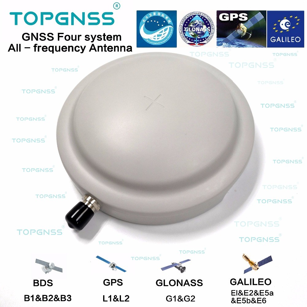 Unmanned vehicle high gain and high precision GNSS full frequency GNSS antenna GPS GLNASS GALILO Beidou waterproof RTK antenna