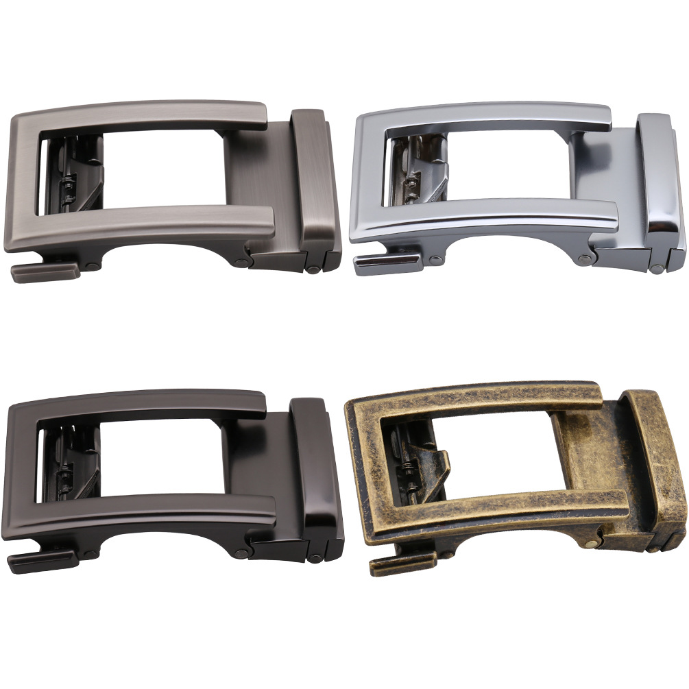 3.5cm Width Automatic Belt Buckle Zinc Alloy Buckle Wide Belt Men'S Business Casual Trousers Belt Buckle Bronze CE36-21690