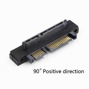 90 درجة بزاوية sata 22 (7 + 15) دبوس ذكر إلى أنثى تمديد محول محول الكمبيوتر