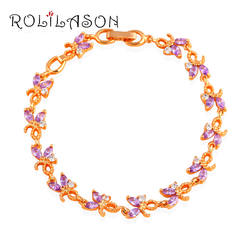 Glittering Zircon Charm font b Bracelets b font Wedding Accessories for Women font b Gold b