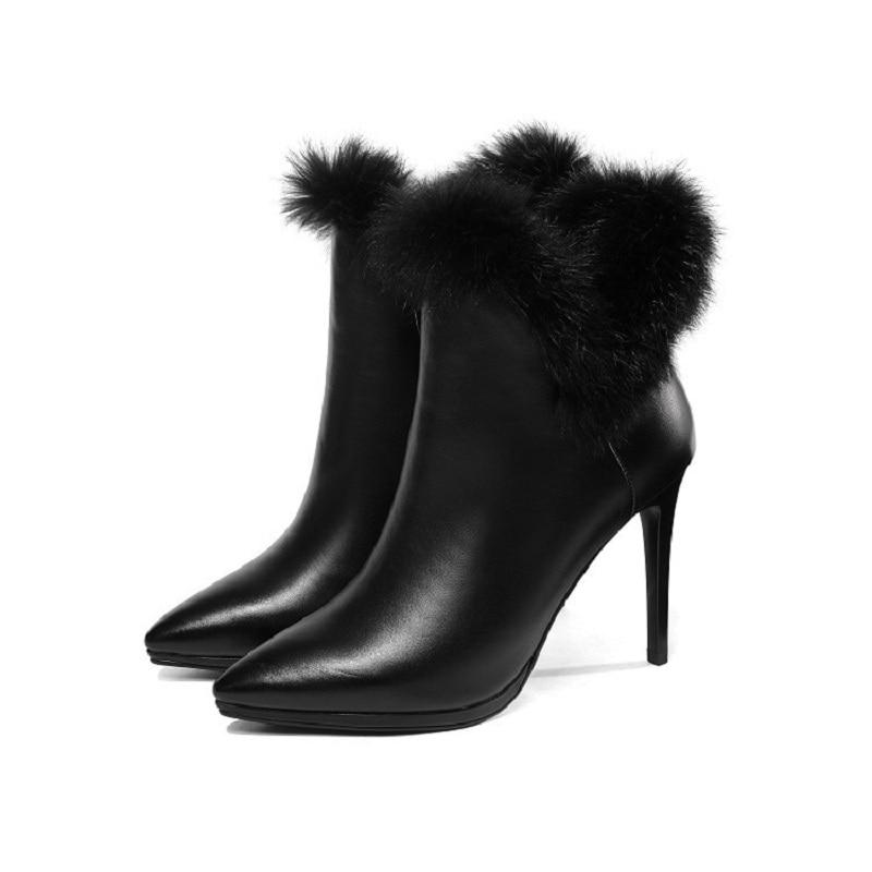 2019 nouveau Martin bottes en cuir bottines talons aiguilles pointus femmes bottines noir ljj 03072019 nouveau Martin bottes en cuir bottines talons aiguilles pointus femmes bottines noir ljj 0307