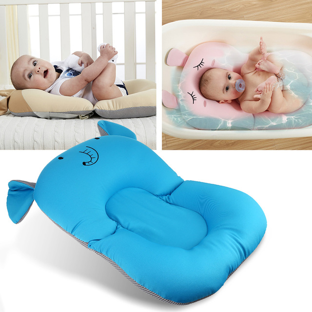 Anti Skid Baby Bath Mat Foldable Shower Seat Infant Bathtub Lounger