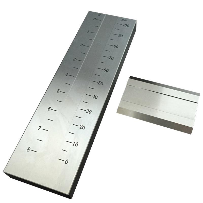 BGD241/3 (0-100um) Single Groove Stainless Steel Grind Gauge Grindometer For Coating