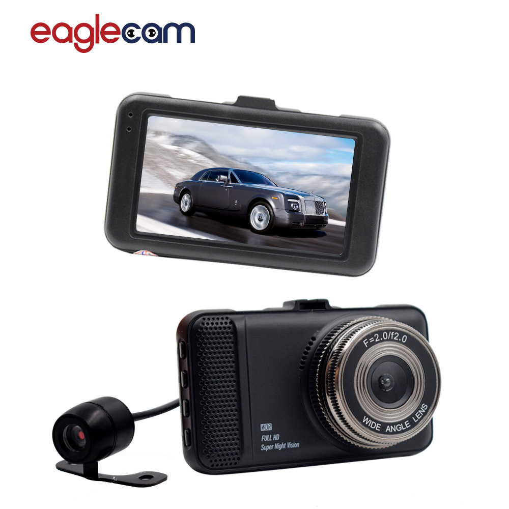 Dual Dvr Camera 1080P Full HD 170 Degree angle New 3.0 CAR DVR CAMERA T659 Two Car Camera For Driving Recording Car Detector