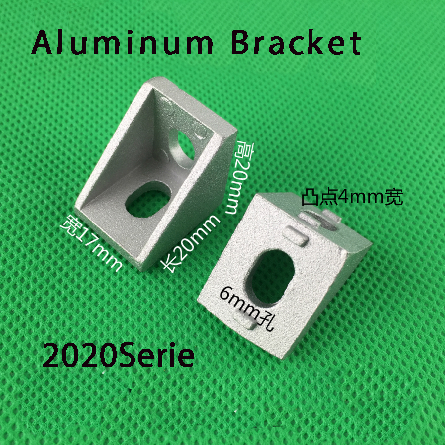 20pcs 2020 Corner Angle Bracket Joint Aluminum Profile Extrusion CNC DIY