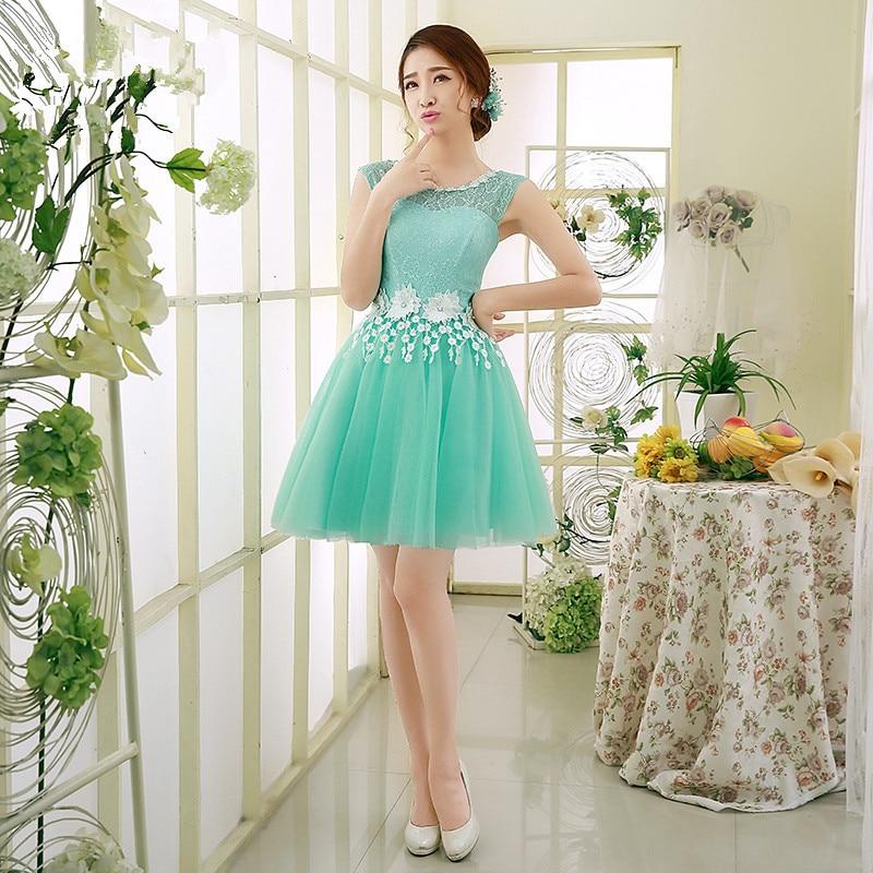 Short light teal bridesmaid dresses great ideas for for Short green wedding dresses