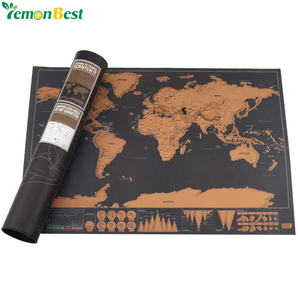 Scratch Map Of The World Travel Edition Deluxe Scratch Off