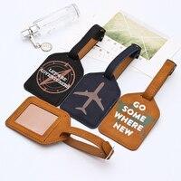 Zoukane Leder Koffer Gepäck Tag Label Tasche Anhänger Handtasche Tragbare Reise Zubehör Name ID Adresse Tags LT02