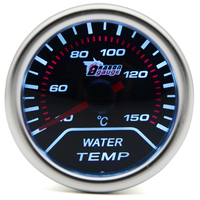 2 52MM Universal Water Temp Car Gauge 40 150 C Degree Meter Auto White LED