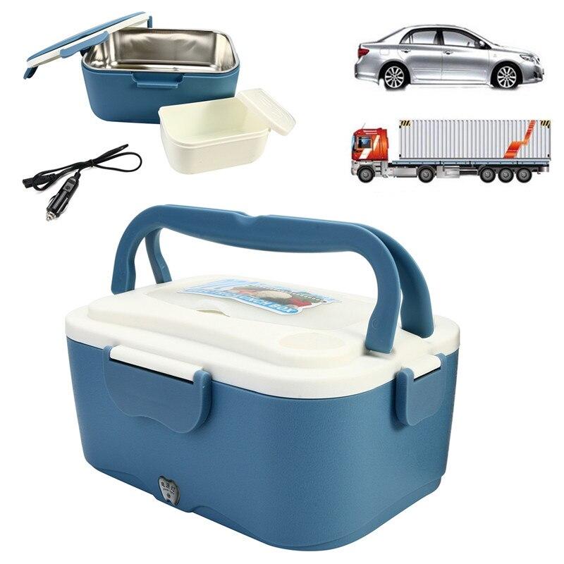 1.5L 12 V/24 V voiture électrique boîtes à Lunch en plein air voyage repas réchauffeur camion Lunchbox alimentaire stockage conteneur boîte vaisselle cadeau-in Boîtes à repas from Maison & Animalerie    1