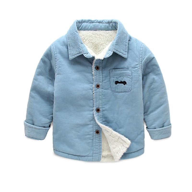 BibiCola 2017 baby boys winter warm jacket kids Plus velvet thickening warm clothes for boy children spring autumn outwear