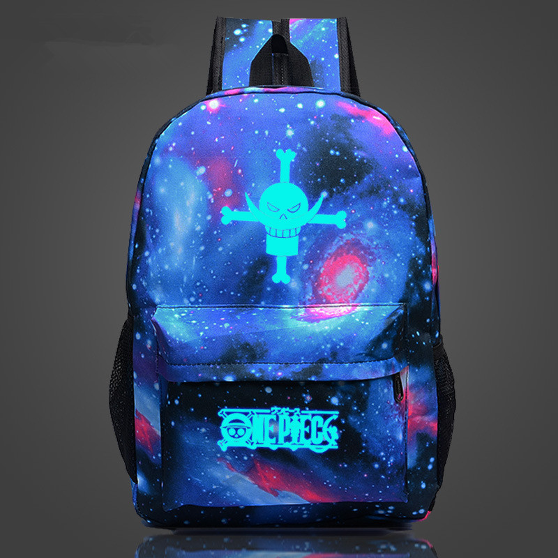 Free Shipping One Piece Backpack Japan Anime Printing School Bags for Young Comics Travel Bag Nylon Mochila Galaxia Backpacks