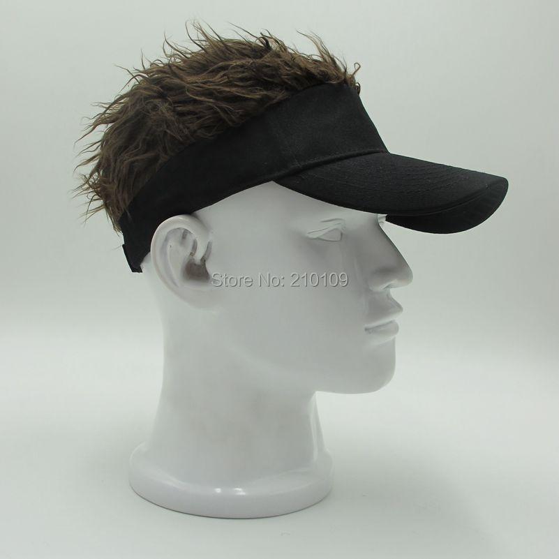 1e2cbb24 Mr.Kooky Hot New Fashion Novelty Baseball Cap Fake Flair Hair Sun Visor Hats  Men's Women's Toupee Wig Funny Hair Loss Cool Gifts-in Baseball Caps from  ...