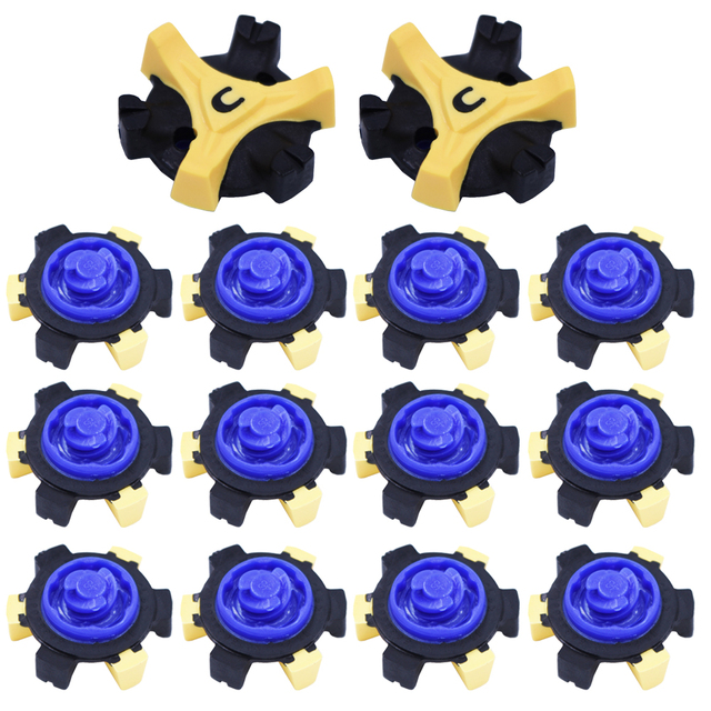 14 pcs TPR Golf Shoe Spikes Replacement Champ Cleat Fast Twist Screw Studs Stinger Golf Accessories Training Aids Shoe Spikes