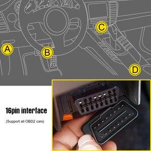 Image 5 - A203 OBD2 i staje w sytuacji sam na sam komputer pokładowy samochód cyfrowy monitor do komputera prędkościomierz paliwa licznik zużycia wskaźnik temperatury OBD2 skaner