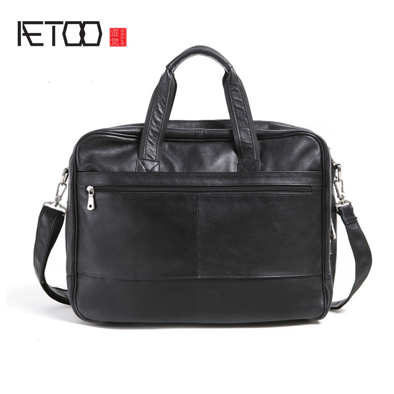 AETOO  The first layer of high-grade leather business package three bags design leather portable men retro leisureAETOO  The first layer of high-grade leather business package three bags design leather portable men retro leisure