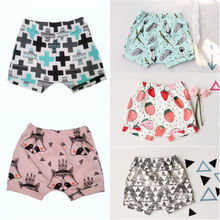Cute Infant Toddler Baby Girls Printed Bottoms Panty Summer Casual Shorts Bloomers Hot Pants Shorts