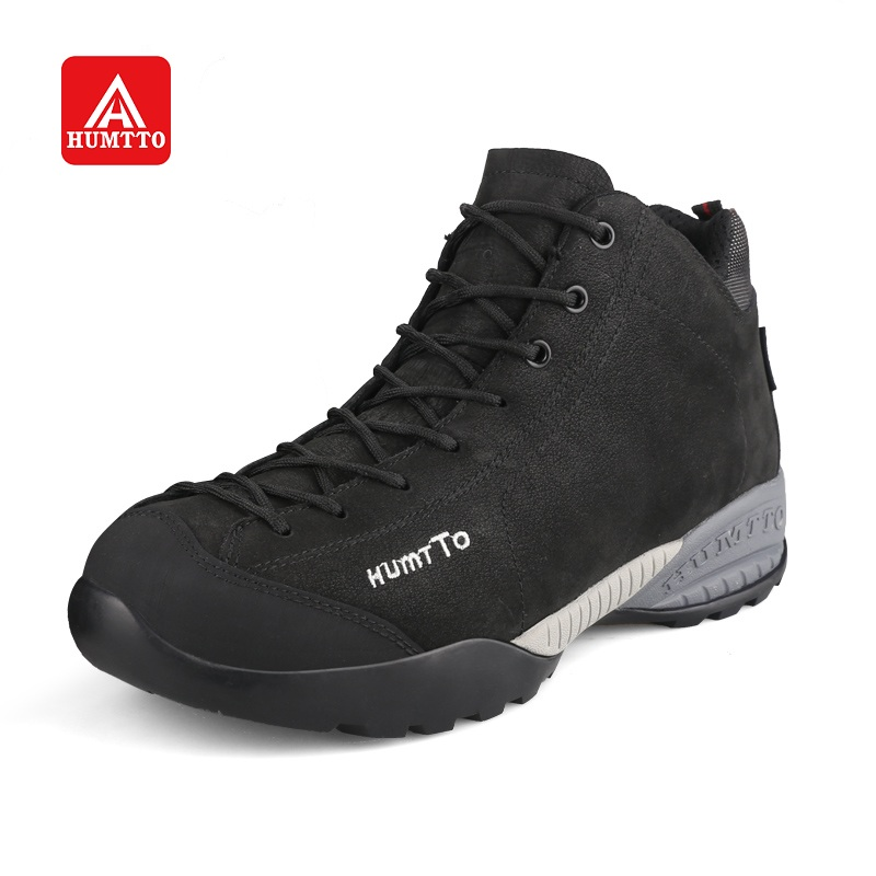 HUMTTO Hiking Shoes Men Warm Winter Outdoor Climbing Boots Walking Sneakers Waterproof Non-slip Leather Sports Shoes