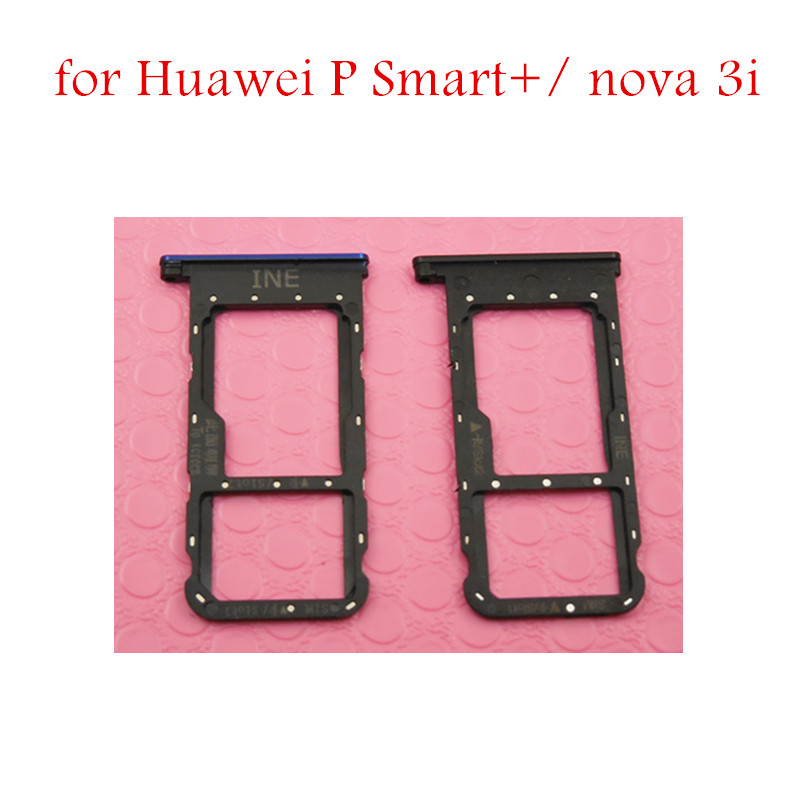 US $5 84 10% OFF|for Huawei P Smart+/ nova 3i Card Tray Holder Micro SIM  Nano SIM SD Card Card Slot Adapter Holder Nova 3i Repair Spare Parts-in