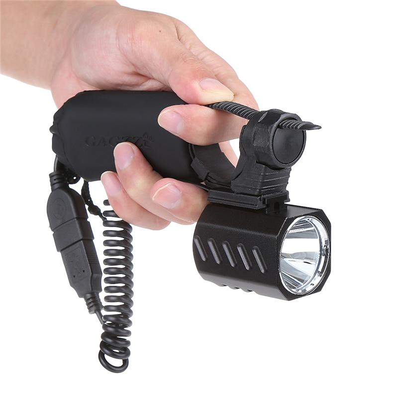 Nouvelle Arrivée 1200Lm Lumens USB XM-L2 LED Lumière de Bicyclette de Phare Avant Lampe Phare Phare + USB Puissance Banque