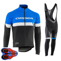 ORBEA 2018 Team Cycling Jersey Clothing Long Sleeve Set Quick Dry Bike Clothes Sportwear Uniformes Ciclismo
