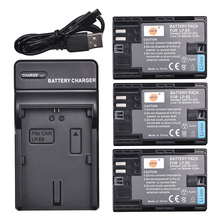 DSTE 3PCS 2600 mAh LP E6 LP E6N lp e6n Camera Battery with USB Charger for
