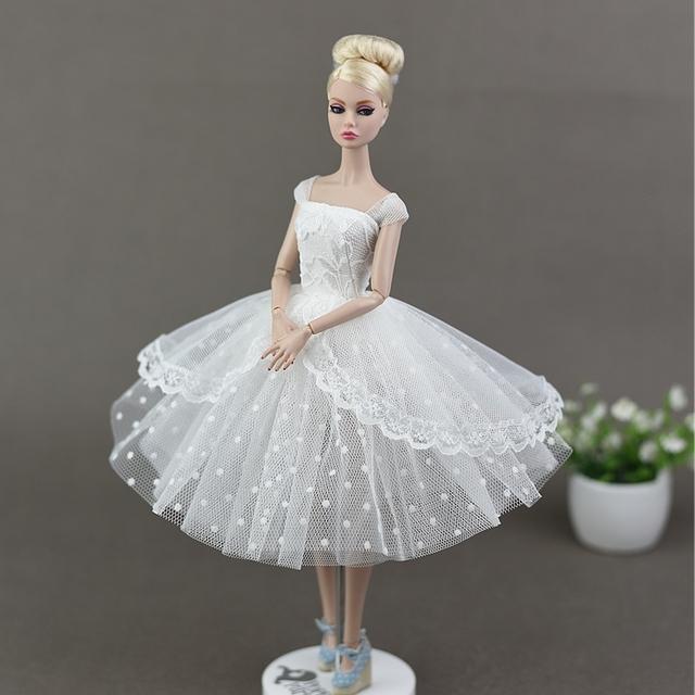 Lace Bubble Princess Gown Dress For 1/6 Barbie Doll
