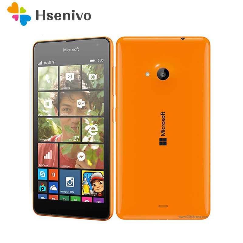535 Original <font><b>Nokia</b></font> Lumia 535 Cell <font><b>Phones</b></font> Quad Core Dual SIM unlocked Mobile <font><b>Phone</b></font> 5.0