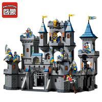 אבני בניין טירה מימי הביניים האריה enlighten 1393 יחידות מרכבת אביר דמות פעולת מודל צעצועים חינוכיים בלוקים תואמים