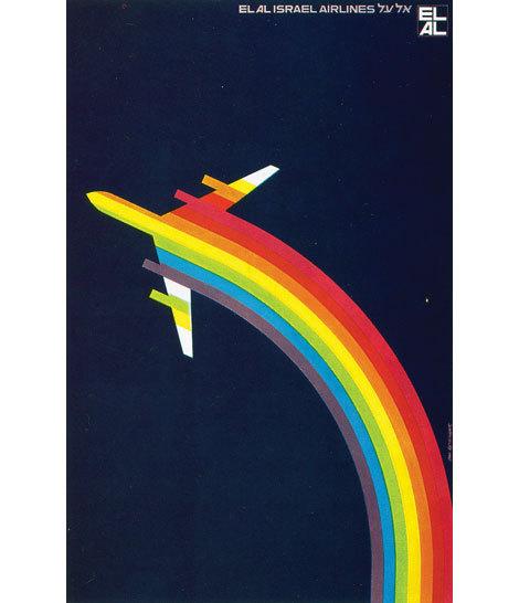 Switzerland EL AL Israel Airlines Landscape Travel Retro Vintage Poster Decorative DIY Wall Art Home Bar Posters Decor