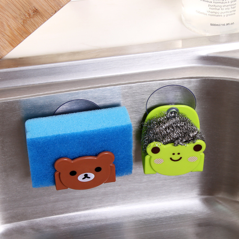 Cartoon kitchen sponge dishcloth receives frame multipurpose cistern buy content wearing suction cup bathroom sundry in Racks Holders from Home Garden